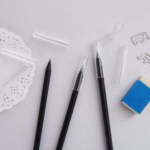 Transparent Pencil Cap Set