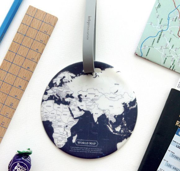 World Map Travel Tag