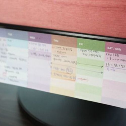 Mini Weekly Schedule Sticky Note v1