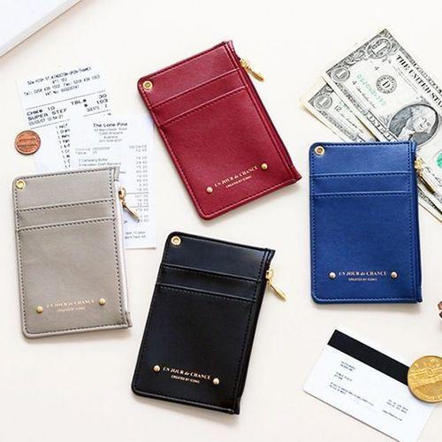 Un Jour De Chance Zipper Card Case & Neck Strap Set