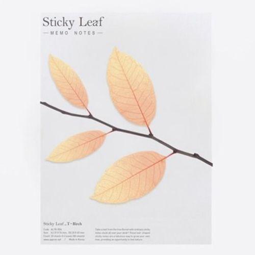 Large Orange Birch Leaf Tracing Sticky Note