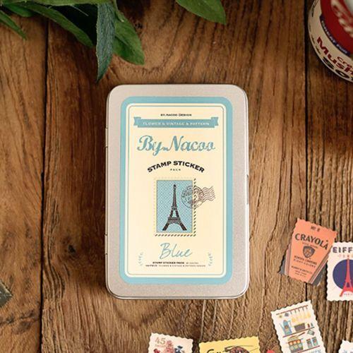 Blue Tin Stamp Sticker Set