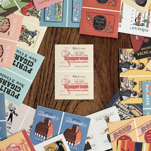 96pcs Vintage Deco Sticker Set