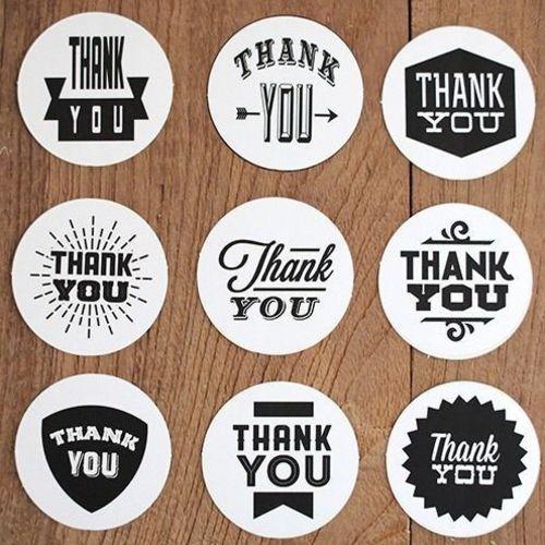 Thank You Round Sticker Set