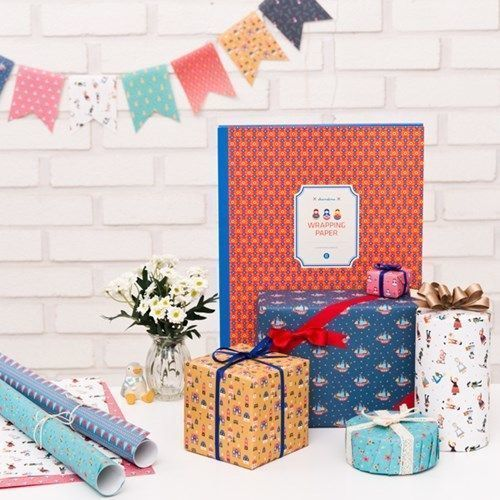 Scandinavian Gift Wrap Paper Book (Type B)