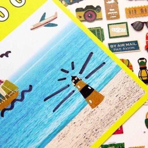 Travel Story Deco Sticker