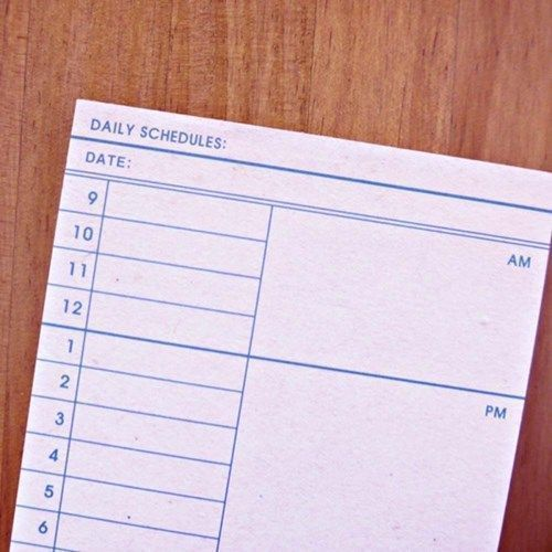 Pink Daily Schedule Notepad