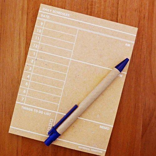 Kraft Daily Schedule Notepad