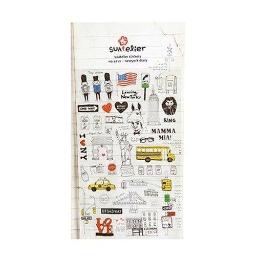 New York Diary Deco Sticker
