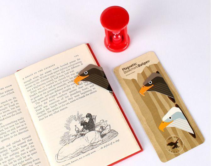 Bird Magnetic Bookmark Pen