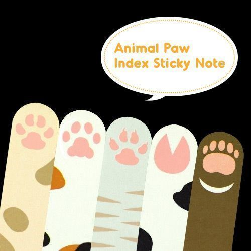 Animal Paw Index Sticky Note Set