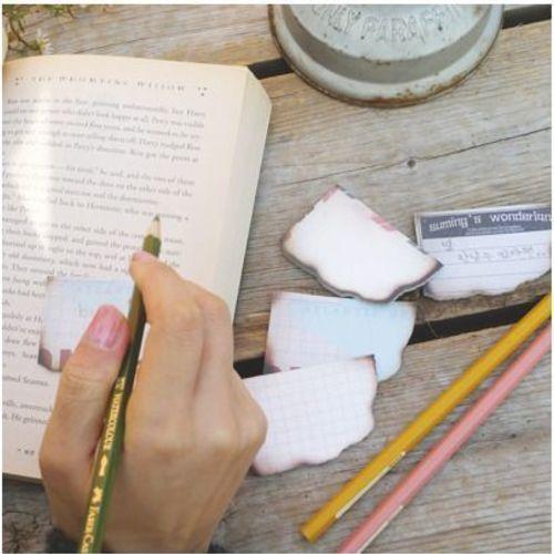 Burned Paper Sticky Note