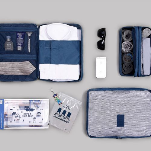 Business Travel Pouch Set