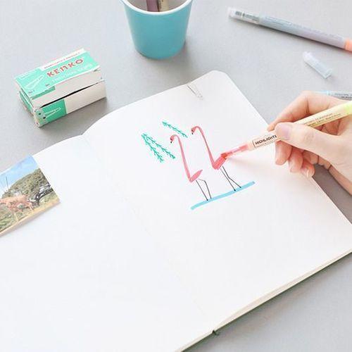 Twin Highlighter Pen Set