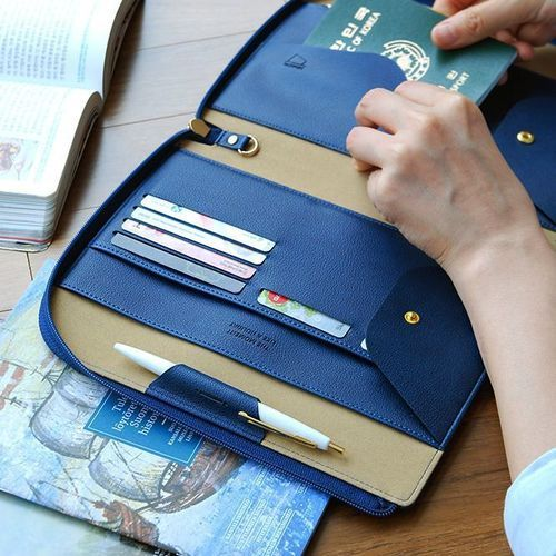 All-in-One Leather Book Clutch
