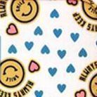 Pattern Ladies Travel Pouch Set, Smiley Yellow