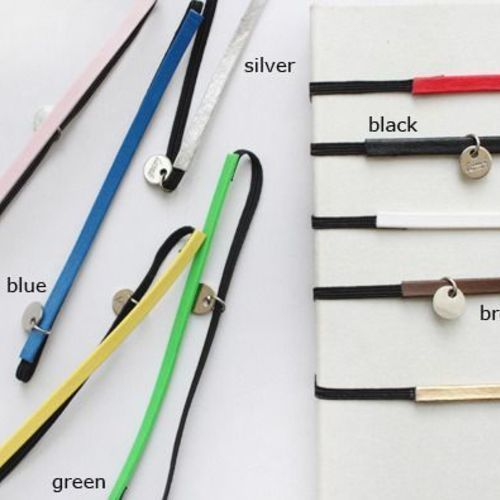 Leather Elastic Notebook Band