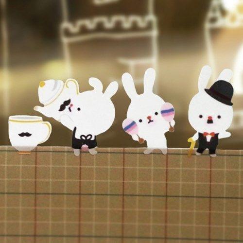 Play Time Bunny Deco Sticker