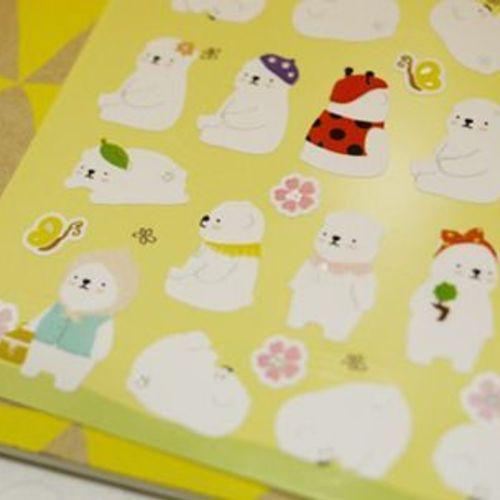 Spring Cozy Bear Deco Sticker