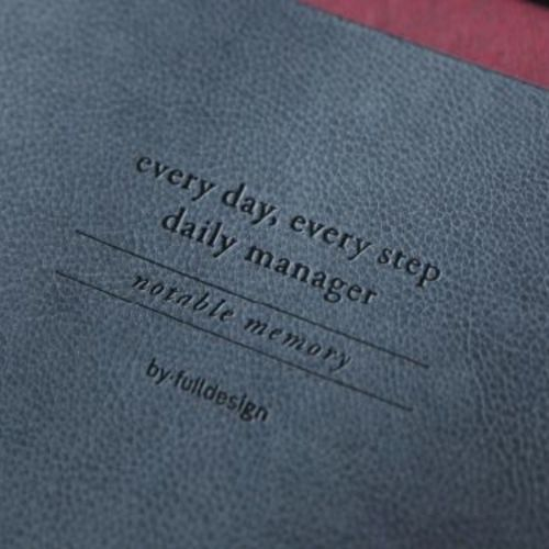 Leather Daily/Weekly Manager