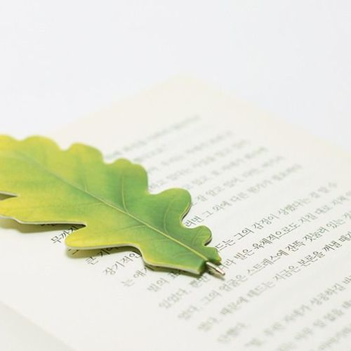 Oak Leaf Bookmark Pen Set