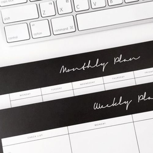 Monthly/Weekly Schedule Notepad