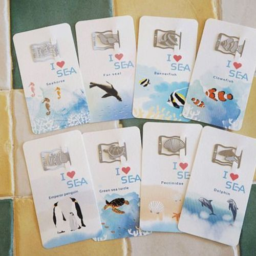 I Love Sea Bookmark