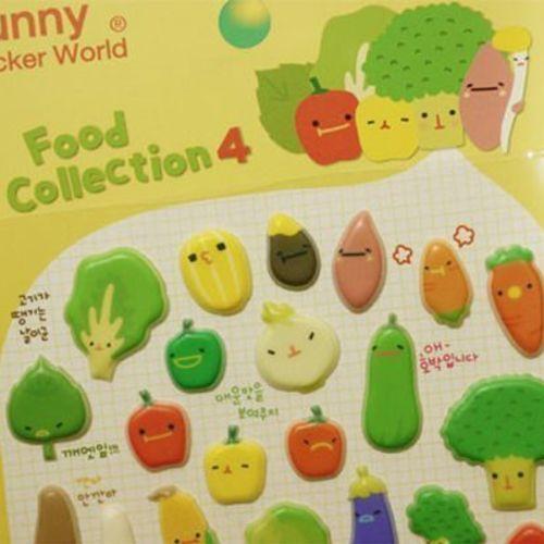Food Puffy Deco Sticker