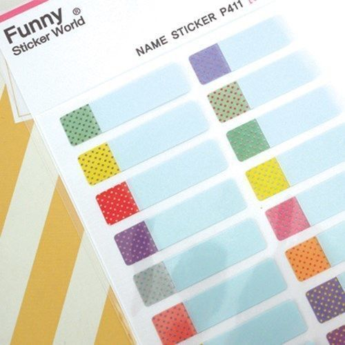 Dot Name Tag Sticker Set