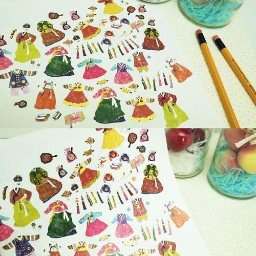 Hanbok Deco Sticker