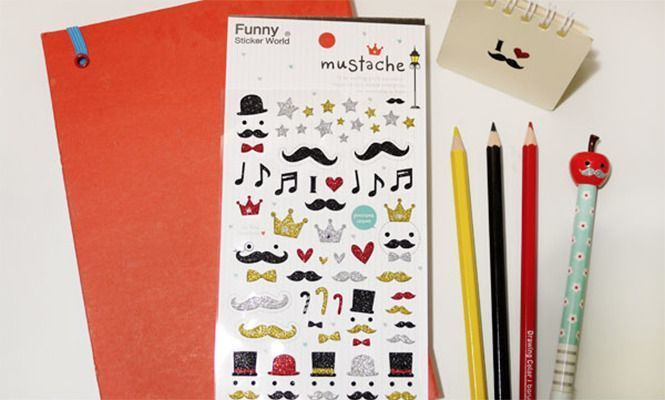 Mustache Deco Sticker v1