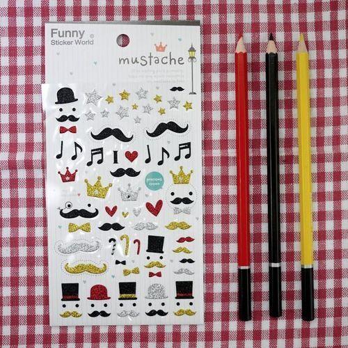 Mustache Deco Sticker v1