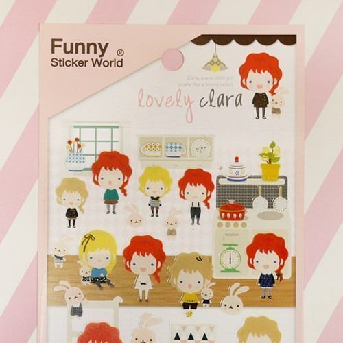 Lovely Clara Deco Sticker