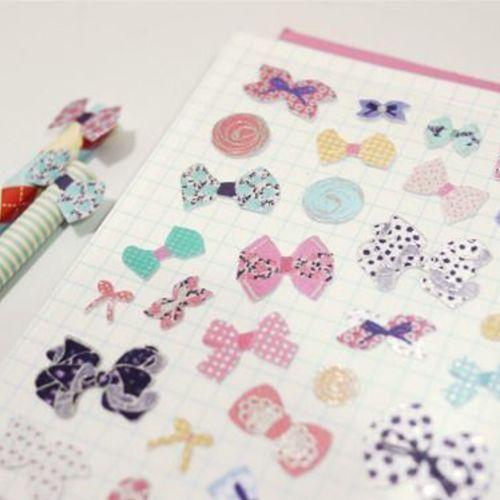 Shiny Fabric Deco Sticker