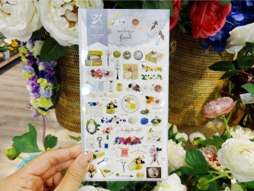 Antique Floral Deco Sticker