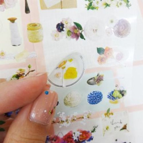 Antique Floral Deco Sticker