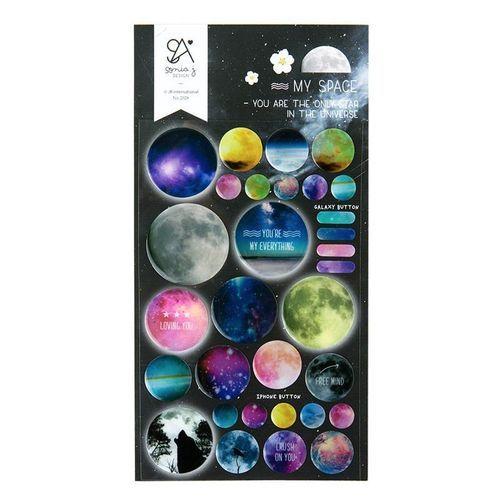 Space Epoxy Deco Sticker