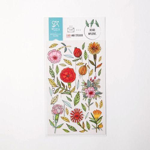 Dear My Love Deco Sticker & Card Set