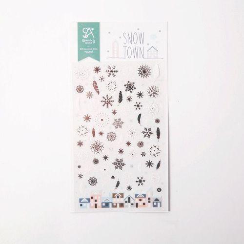 Snow Town Deco Sticker