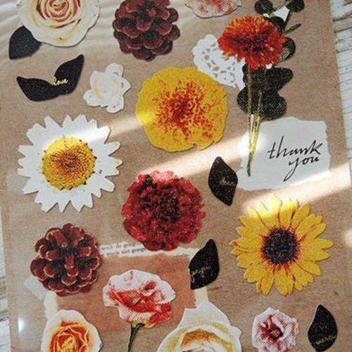 Flower Cotton Deco Sticker