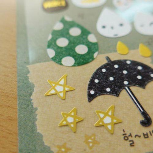 Raindrop Deco Sticker
