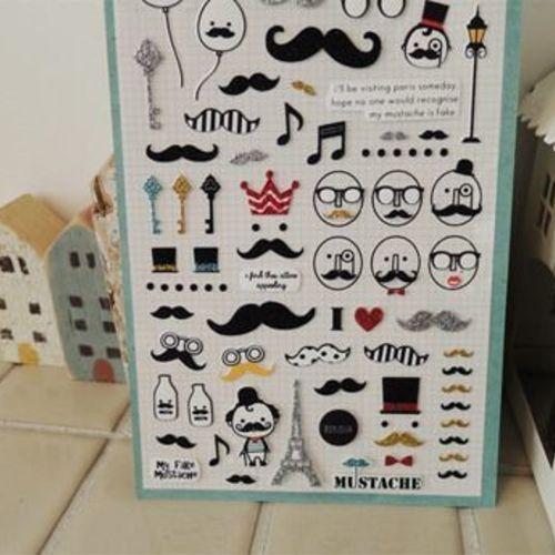 Mustache Deco Sticker v2