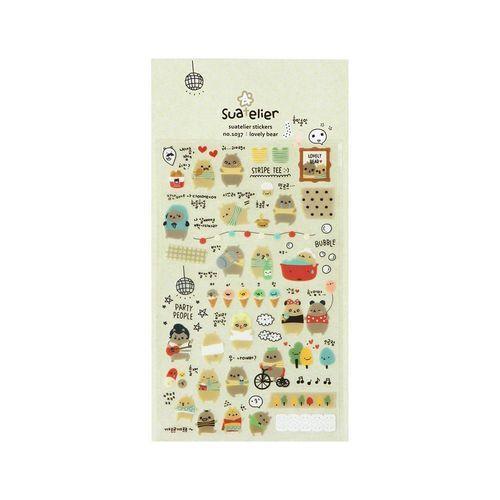 Lovely Bear Deco Sticker