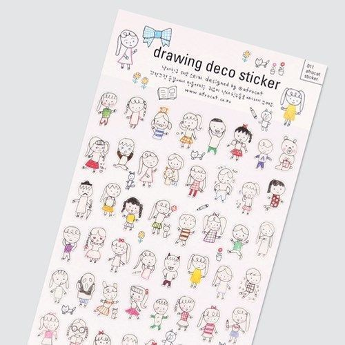 Drawing Deco Sticker