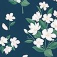 Pattern Ardium Study Planner, Blooming Navy