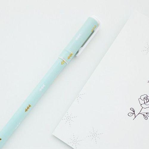 Gold Point Pattern Pen