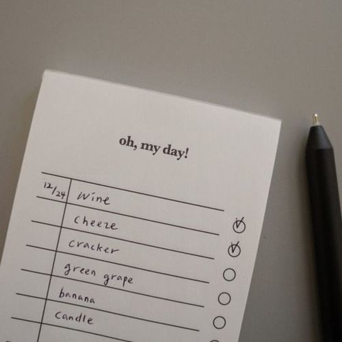 Oh, My Day! To Do Notepad