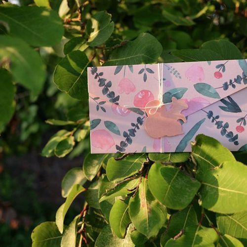 Natural Pattern Envelope Card
