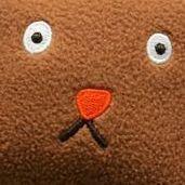 Fluffy Animal Wrist Cushion, Brown Puppy