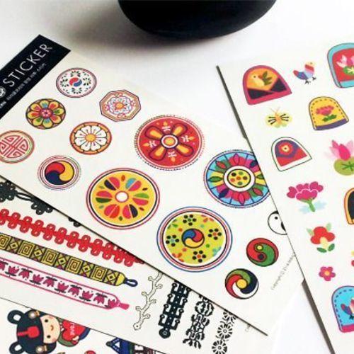Korean Traditional Temporary Tattoo